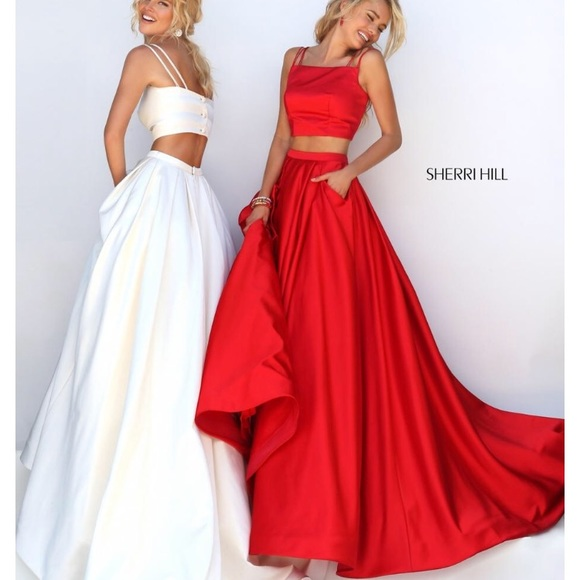 37e0588a9236 Sherri Hill Dresses | Red Two Piece Prom Dress | Poshmark